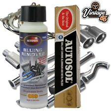 Classic Car Bluing Remover Stainless Steel Exhaust System Cleaner & Metal Polish
