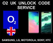 O2 UK Network Unlock Code Service, Samsung, Sony, Huawei, LG, Motorola, Alcatel