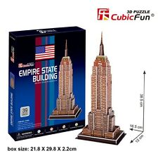 CubicFun 3D Puzzle Empire State Building Puzzles Educational DIY Jigsaw C704h