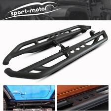 Black Steel Side Step Running Boards Bars for 2007-2018 Jeep Wrangler JK 2 Door