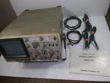 Goldstar Precision Co Model Os 7020 20 Mhz Oscilloscope With Manual Amp Cords