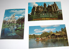 Disney World Postcards 70's Haunted Mansion - Castle - Adventure