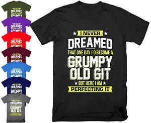 Mens GRUMPY OLD GIT T Shirt Top Funny Joke Fathers Day Grandad Gift S - 5XL