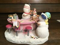 "Lenox Lynn Bywaters Snowman ""Sams Soda Shoppe"" Limited Ed. Signed & Numbered HTF"