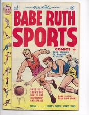 Babe Ruth Sports Stories #1 Golden Age Havey Sports Comic! I combine Shipping!