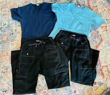 Dickies Scrub Lot, Size Xs, 2 Tops & 2 Pants, Euc,4 Piece