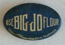 Advertising BIG JO Flour Carborundum Knife Sharpener Hone Whetstone