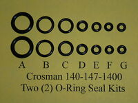 Crosman Model 140-147-1400 Two (2)  Complete O-Ring  Seal Kits