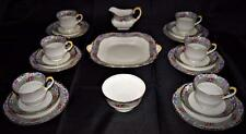 Art Deco~Antique~c1925 Aynsley 21 Piece~Fine English~Bone China~Tea Set for 6~