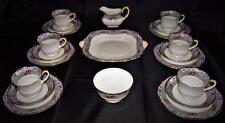 ART DECO ~ Antique ~ c1925 Aynsley 21 pièces ~ Fine English ~ PORCELAINE ~ Tea Set Pour 6 ~