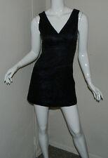 Women Bebe Sexy Paisley Black Blue Sleeveless Cocktail  Party Dress Size XS