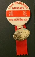 Lake Highlands Jr High School Dallas TX 1970s White Rock National Bank Pin Medal