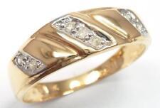 SYJEWELRYEMPIRE 10KT SOLID YELLOW GOLD 7 DIAMONDS BAND RING   SIZE 7   R1150