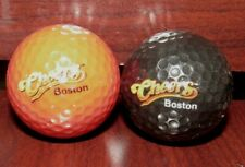 Lot of 2 different Cheers Bar Television Show Set Golf Balls - Boston, MA