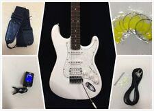 Haze E-211WH Solid Body SC Electric Guitar,White+Free Gig Bag,Strings-Full Kits!