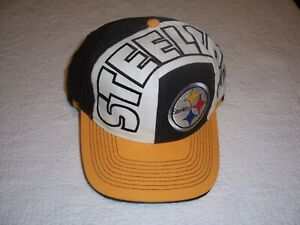 Vintage VTG 90s NFL TEAM PITTSBURGH STEELERS Embroidered Snapback Hat Cap Script