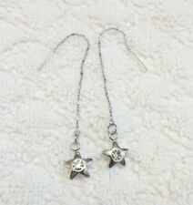 Crystal Rhinestone Star Shape Dangle Threader earrings