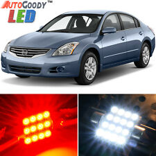 12 x Premium Red LED Lights Interior Package Kit for Nissan Altima 2007-2014