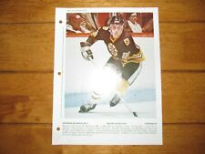 1979 Vintage Photo of RAY BOURQUE RC Boston EX-MT Dimanche Derniere Heure Insert