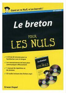 Le Breton pour les Nuls (3 CDs/livre - package) Très Rare NEW Breton for French