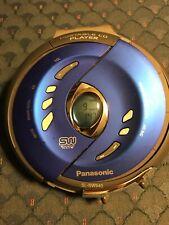 Panasonic Portable Cd Player Sl-Sw940 Blue Shock Wave Anti-Skip Tested Working