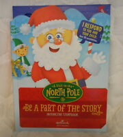 HALLMARK A VISIT TO THE NORTH POLE INTERACTIVE RECORDABLE STORYBOOK BOOK NEW
