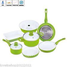 RB-1245 Vert Renberg Bio Céramique Cuisinière Pot Pan Kit de 9