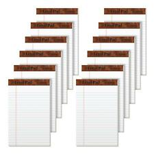 12 Pack Writing Pads Jr. Legal Rule 5 x 8 White Paper 50 Sheets Notepad