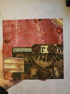 """Kelly Rae Roberts Collection - Demdaco - 6""""x6"""" Wall Art - Grow - #18360"""