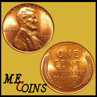 1958 Lincoln Wheat Cent Penny , GEM BU Red , US Coin , Free Shipping!