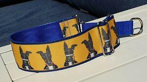 Adam Ant  Design.Jane Wren Artwork. 50mm Reduced Martingale Collar. Greyhound