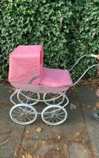 Cambridge Style Dolls Vintage Pram Stroller Storage Basket Carry Bag Girls Buggy
