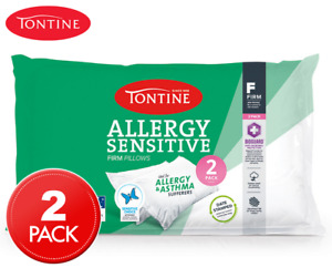 2 Tontine Allergy Sensitive Pillows- Duo Pack Allergy Sensitive-2 Pillows-firm