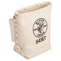 Klein Tools 5416T Canvas Bull Pin and Bolt Bag with Tunnel Loop