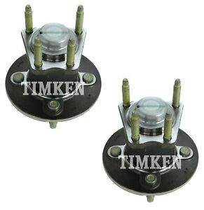 Pair Set Of 2 Rear Timken Wheel Bearing And Hub Kits for Chevrolet Pontiac FWD
