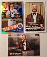 Pete Alonso 2020 Topps Lot (3) 1985 35th Anniversary Refractor Mets PWE Shipping