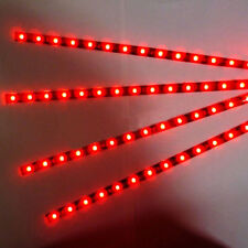 8pcs .5 SMD LED 30cm Car Auto Flexible Grill Light Lamp Strip Waterproof Red 12V