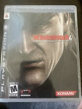 PS3 Metal Gear Solid 4: Guns of the Patriots (Sony PlayStation 3, 2008) Complete