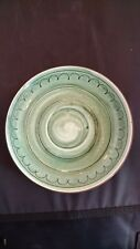 Stangl Pottery SAMPLE COLOR TEST SAUCER back '72 quality control paint lab RARE