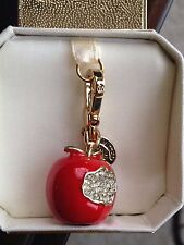 BRAND NEW! JUICY COUTURE RED BITTEN APPLE BRACELET CHARM IN TAGGED BOX