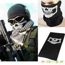 Man Skeleton Ghost Skull Face Mask Bicycle Halloween COD Costume Black CS War
