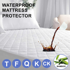 Mattress Protector Waterproof Bamboo Hypoallergenic Bed Cover Pad Queen King Us
