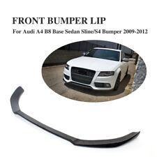 FRP Front Bumper Lip Chin Spoiler Fit for Audi A4 B8 Base Sedan S4 Sline 09-12
