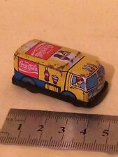 Small Tinplate Coca Cola Delivery Truck  made in Japan  friction motor NOT worki