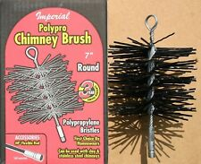 "IMPERIAL 7"" Round Poly Chimney Brush Heavy Duty NEW! FREE USA SHIPPING!"