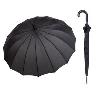Doppler Liverpool 16 Rib Umbrella Black