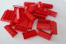 25 Lego Dachsteine Schrägsteine 2x4 rot NEU 3037