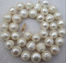 """Real Pearl 10-11mm South Sea White Baroque Pearl Necklace 25"""""""