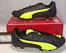 45138bd62ae Puma Mens Size 11.5 Evospeed 3.4 Leather Fg Soccer Cleats Safety Yellow  Black