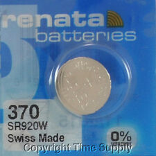 1 pc 370 Renata Watch Batteries Sr920W Free Ship 0% Mercury